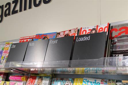 Lads' mags: The Co-operative has already introduced opaque screens on shelves
