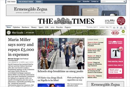 The Times: News UK title