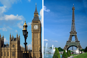 London vs Paris: large event spaces