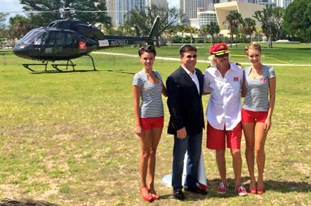 Sir Richard Branson launches Virgin Cruises in Miami (© @HannaBSampson)