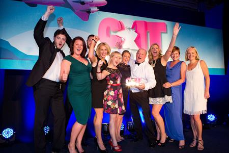 drp picking up the Agency of the Year Award at the C&IT Awards 2014