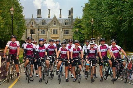 Cycle-themed teambuilding at Foxhills, Surrey