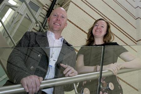 Smyle's Rick Stainton and Postive Impact's Fiona Pelham