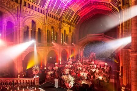 The Concerto Group's annual dinner at the Natural History Museum