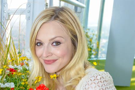 Fearne Cotton cuts red ribbon at Shard's new summer garden