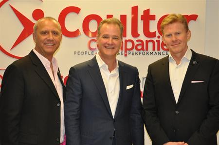 Robin Lokerman, group president at MCI Group; Tom Gibson, CEO at Coulter Companies; Jurriaen Sleijster, executive vice president at MCI Group