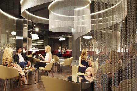 The NY-LON lounge bar by Virgin Atlantic and Delta