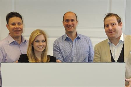 Paragon's Phil Boas, Megan Collins, Mike Martin and James Clutterbuck