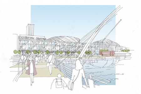 A sketch of the new development