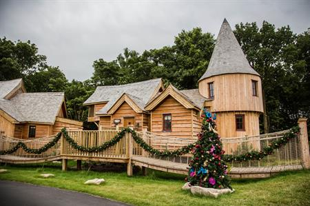 Alton Towers Resort has opened its new Enchanted Village tree houses for corporate hire
