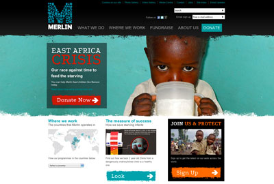 Merlin's improved website uses video, photographs and infographics