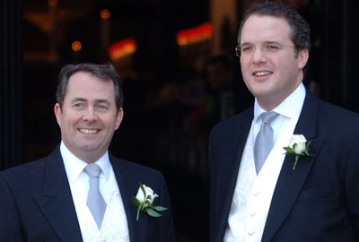 Liam Fox [l] with Adam Werritty