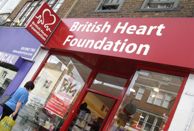 British Heart Foundation shops