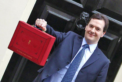 George Osborne and red box