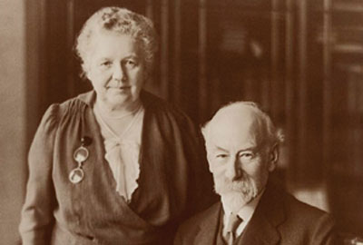 Barrow Cadbury and his wife Geraldine Southall