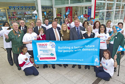 Tesco's partnership with the Alzheimer's Society aimed to increase awareness and diagnosis of dementia