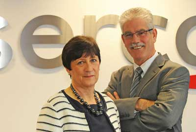 Serco's Elaine Bailey and Gareth Matthews