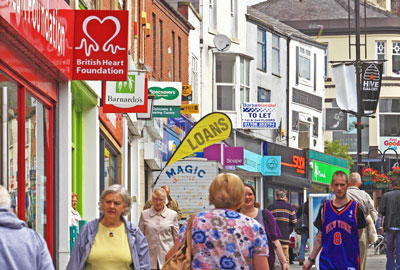 Rochdale has a high number of charities on its high street