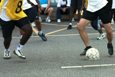Charities provide recreation activities, including football