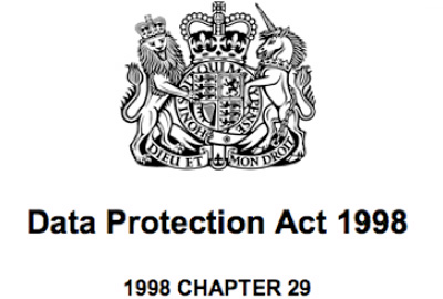 The Data Protection Act (DPA) 1998