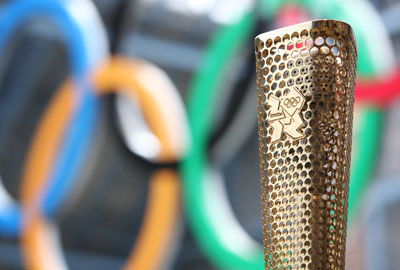 An Olympic torch