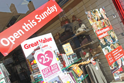 A British Heart Foundation charity shop