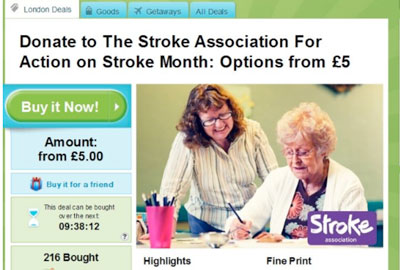 The Stroke Association's partnership with Groupon