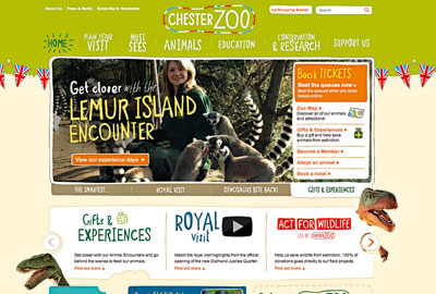 Chester Zoo's new website