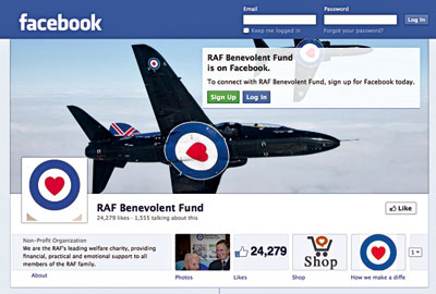 The RAF Benevolent Fund's Facebook page