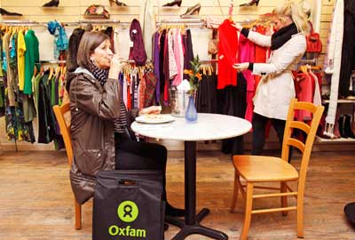 An Oxfam shop was turned into a PizzaExpress restaurant at the start of the campaign