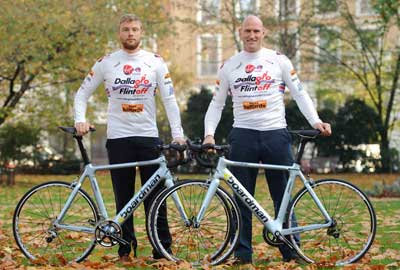 Andrew Flintoff (left) and Lawrence Dallaglio