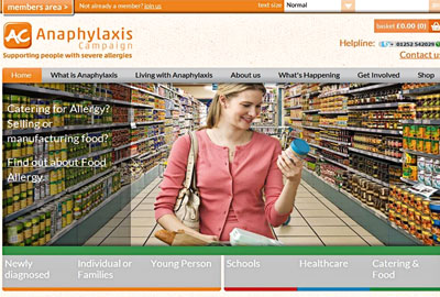 Anaphylaxis Campaign's new website