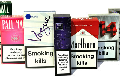Cancer Research UK is campaigning to change cigarette packaging