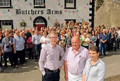 The hub has helped projects such as the community-owned Butchers Arms pub