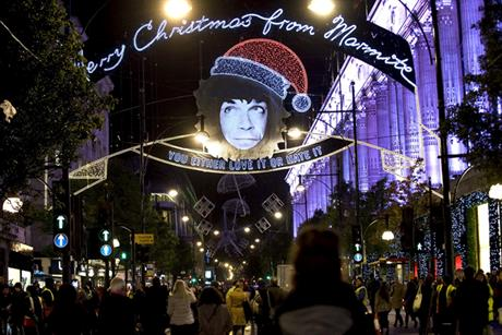 Marmite: offers vote on time to switch off the Oxford Street Christmas lights