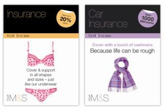 Marks & Spencer compares quality of its financial services to food and clothing