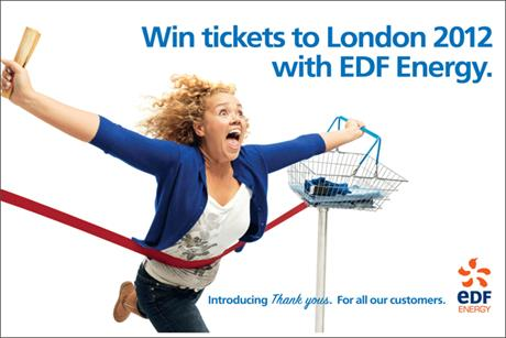 EDF: offers London 2012 tickets as part of latest marketing strategy