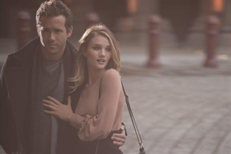 Marks & Spencer: Ryan Reynolds and Rosie Huntington-Whitely model the brand's autumn collection