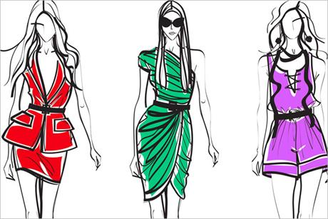 Diet Coke: Style it Light fashion illustrations