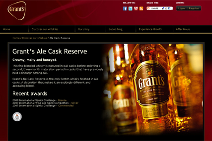 Grant's Whisky: new website