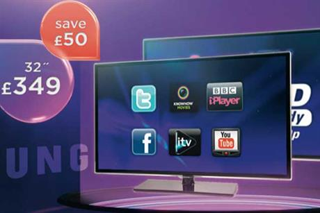 Currys/PC World: This ad is clearly a typical product and price promotion ad