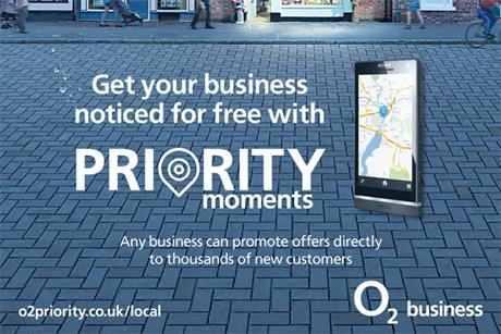 O2 Priority Moments: targets independent businesses