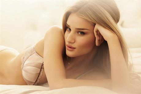 Rosie Huntington-Whiteley: models her M&S lingerie collection