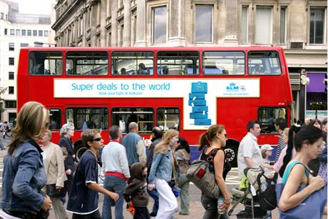 KLM: uses 700 London Transport buses to get its campaign message across
