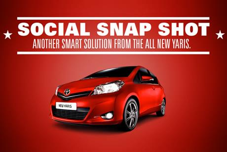 Toyota: rolls out its Social Snap Shot app