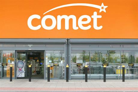 Comet: owner Kesa sells for £2