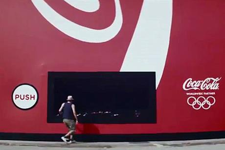 Coca-Cola: TV ad features a giant vending machine