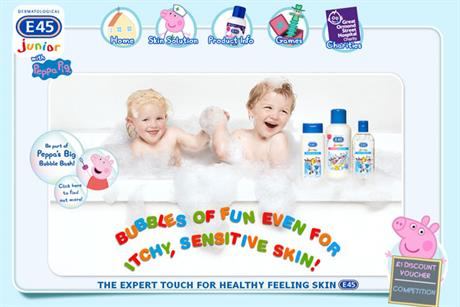 E45: Peppa Pig Junior range website