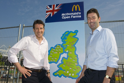 McDonald's: Sebastian Coe with UK CEO Steve Easterbrook