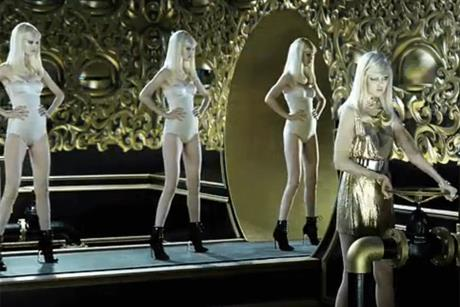 Versace: latest TV ad features a production line of blonde models